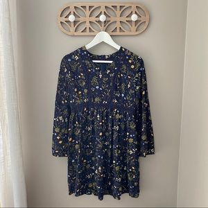 EARTHBOUND Floral Dress Navy Medium